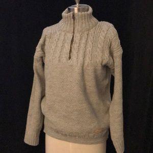 PEREGRINE Women's? Men's? MADE IN ENGLAND 109% Wool Grey 1/4 Zip